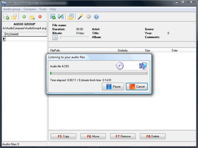 Audio Comparer Screenshot