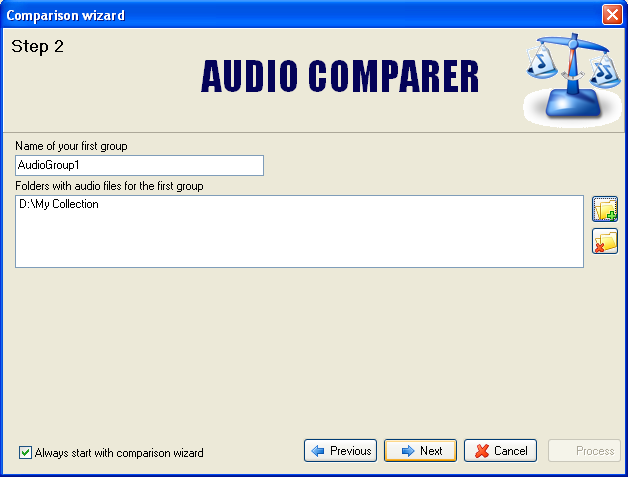 Audio Comparer guide