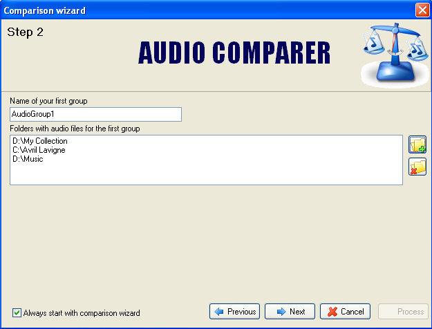 Audio Comparer How to use