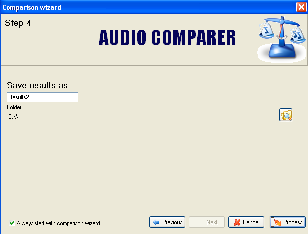 Audio Comparer Guide on How to use